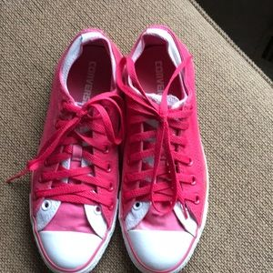 Hot pink Converse All-Star sneakers